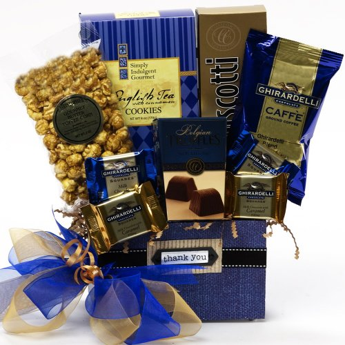 Thank You Desk Caddy Coffee and Treats Gift Basket