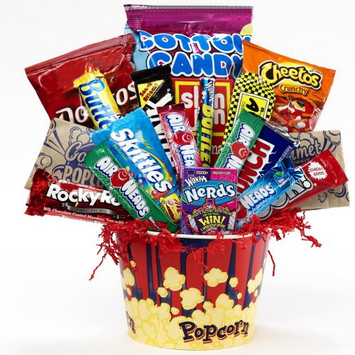 Junk Food Junky Snacks and Candy Bouquet Gift Basket