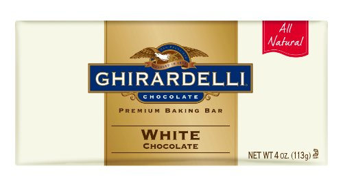Ghirardelli Chocolate Baking Bar, White Chocolate, 4-Ounce Bars (Pack of 6)