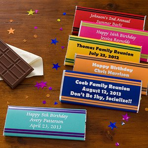 Personalized Birthday Party Favors - Candy Bar Wrappers